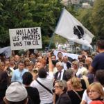 A Bastia manifestazione contro l'arrivo di profughi nell'isola