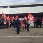 All'aeroporto di Bastia manifestazione del personale Air France contro il piano aziendale