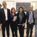 La cantante genovese Roberta Alloisio ricevuta dal sindaco di Bastia