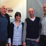 Saveriu Luciani in visita all'Ufficio pubblico della Lingua Basca a Bayonne