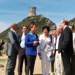 La ministra dell'ambiente Ségolène Royal in visita ad Ajaccio