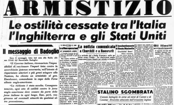 Prima pagina d'epoca del giornale Corriere della Sera