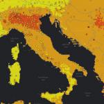 Mappa dell'inquinamento, in Sardegna e Corsica aria molto migliore che nella Penisola