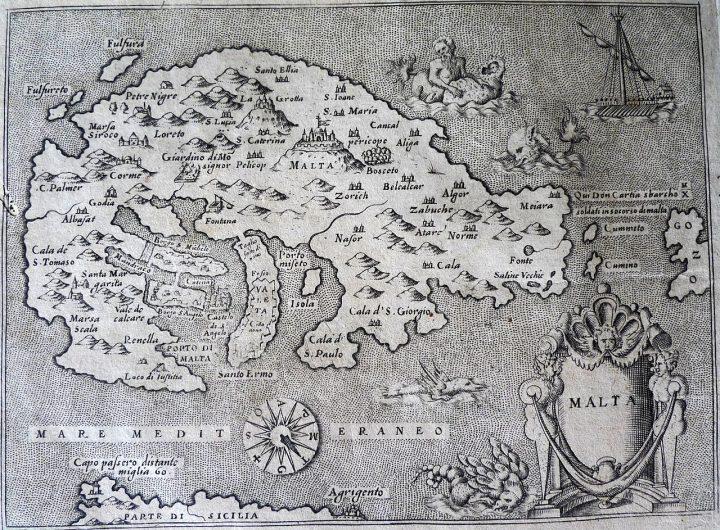 Carte_de_Malte_Porcacchi_1576