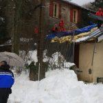 Danneggiato a causa della neve una parte del tetto dell'Hôtel Monte d'Oro al passo di Vizzavona