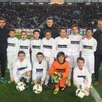 I giovani giocatori di Corte alla scoperta dello stadio Armand-Cesari