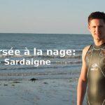 Adrien Arbanere, a nuoto dalla Corsica alla Sardegna