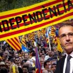 Jean-Guy Talamoni in Catalogna in occasione del referendum per l'indipendenza