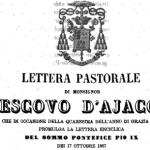 Le lettere pastorali del vescovo di Ajaccio Casanelli d'Istria: una preziosa testimonianza sulla lingua italiana in Corsica nel XIX secolo