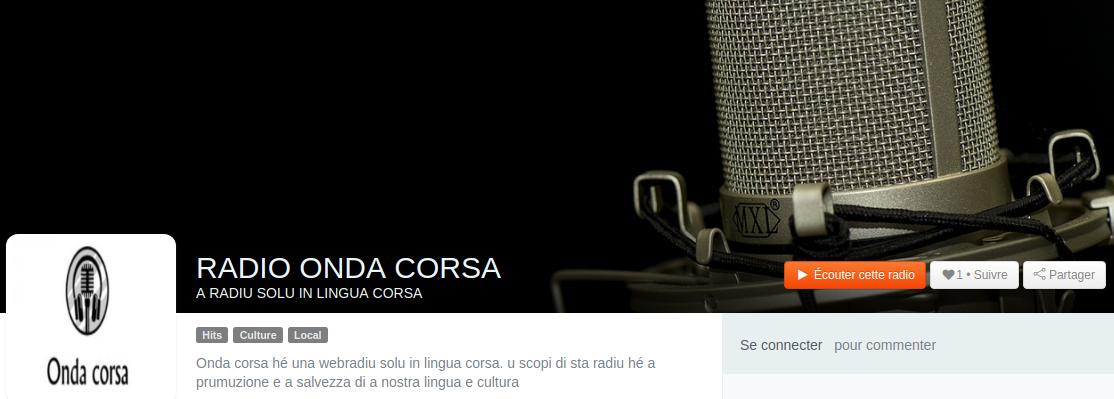 Onda Corsa, una radio che trasmette solo in lingua nustrale