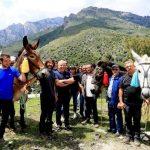 Il sentiero del Tavignano ripristinato grazie ai muli