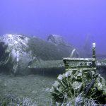 Cantiere franco-americano di scavi sottomarini su un relitto di un aereo da caccia P-47 al largo della Corsica