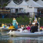 Ieri si è tenuta la messa corsa nella chiesa di San Crisogono a Trastevere e stasera si terrà la processione in barca lungo il Tevere
