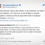 Ponte Morandi: le parole di cordoglio di Macron anche in italiano