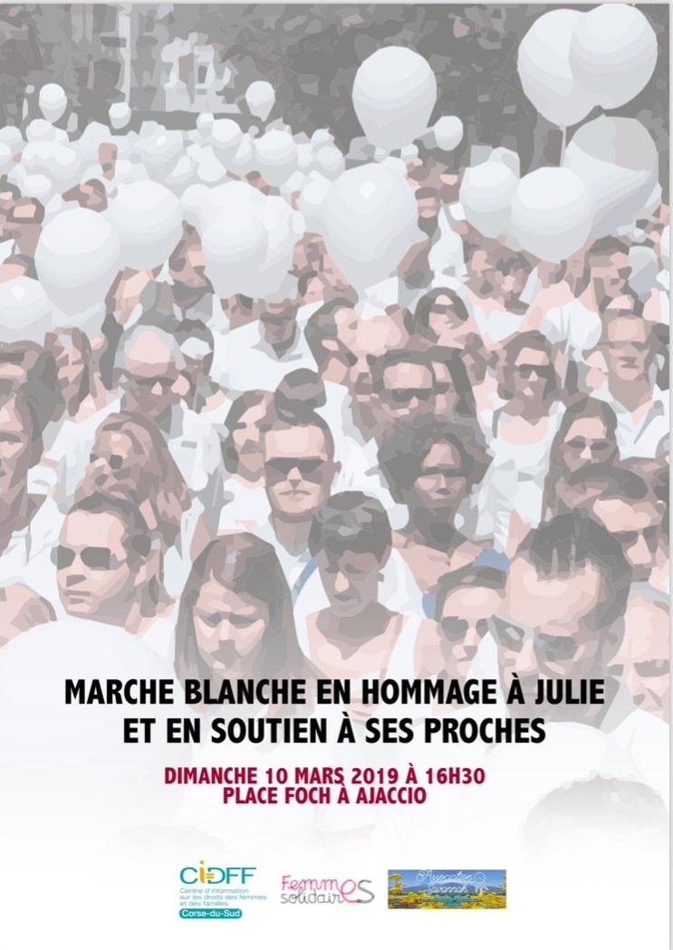 Marcia bianca in omaggio a Julie Douib questa domenica ad Ajaccio