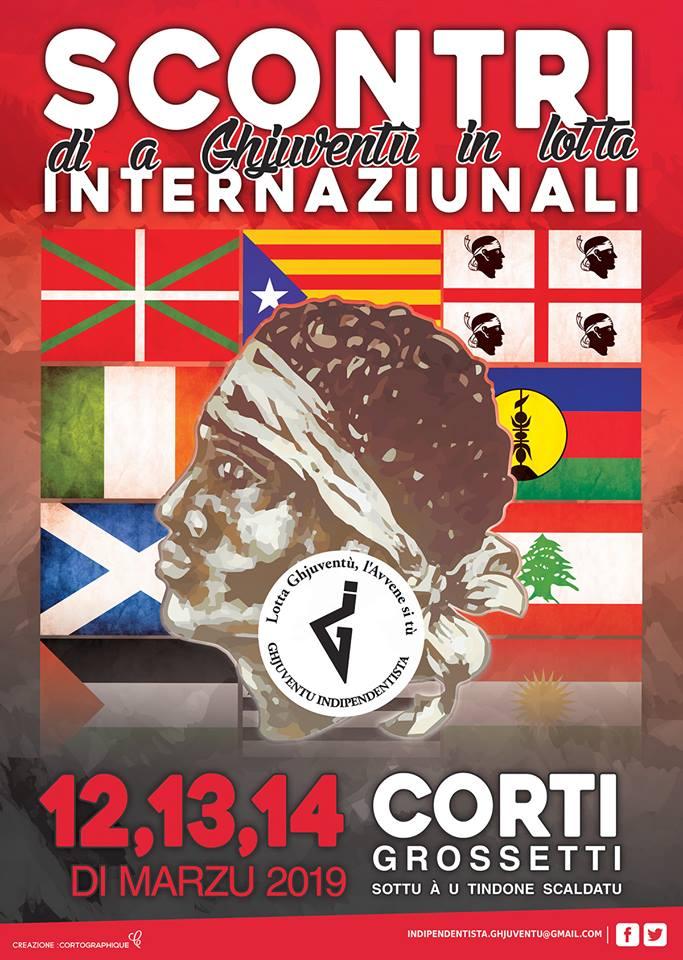 Dal 12 al 14 marzo Ghjuventù Indipendentista organizza gli Scontri Internaziunali di a Ghjuventù in Lotta