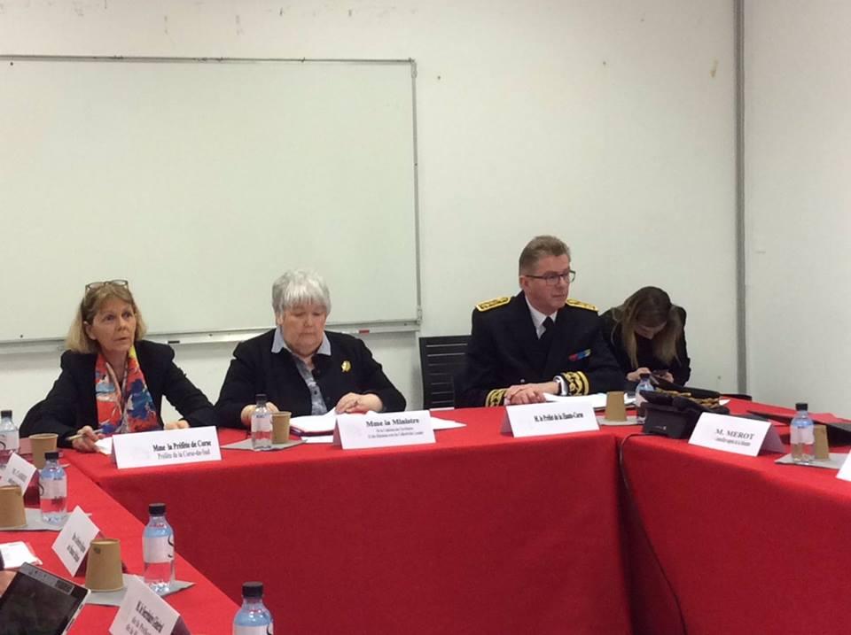 La ministra della Coesione dei territori Jacqueline Gourault in Corsica