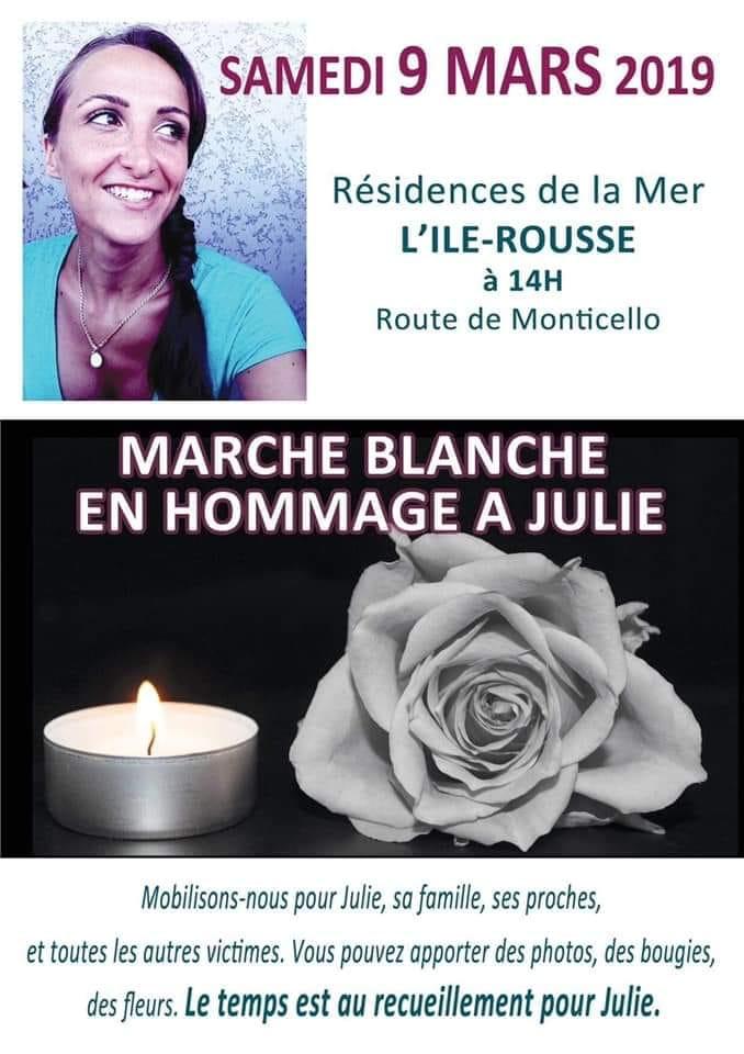 Domani Marcia bianca a Isola Rossa in ricordo di Julie Douib dalla Résidences de la Mer