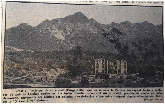 Sessant'anni fa la Corsica manifestava contro la creazione di un poligono nucleare a Argentella