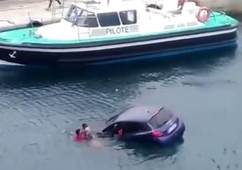 Bastia: auto cerca di salire sul traghetto ma finisce in mare