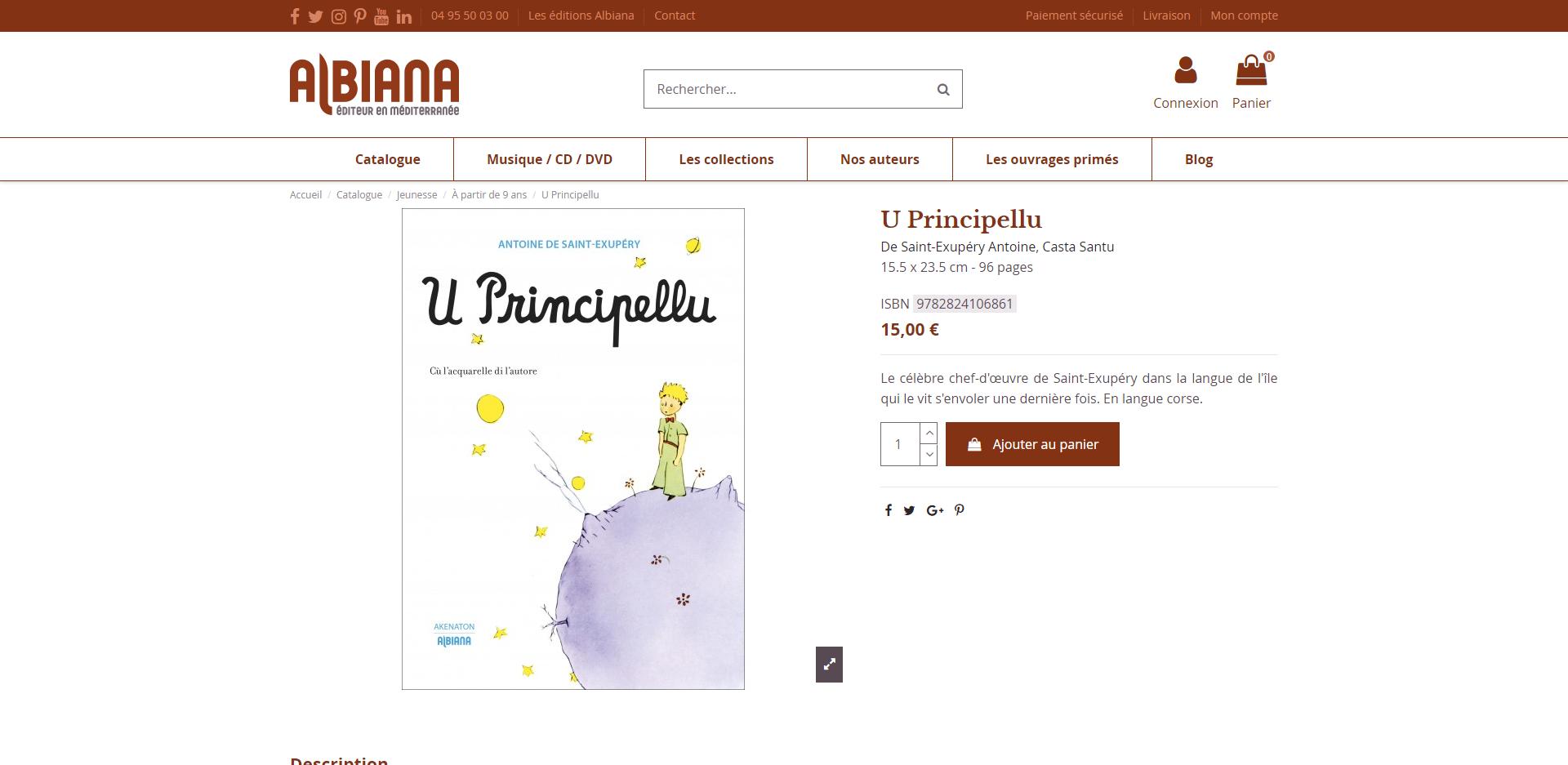 U Principellu: Il Piccolo Principe tradotto in lingua corsa da Santu Casta
