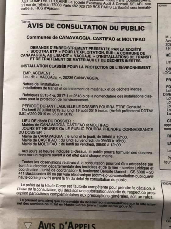Proteste contro il progetto di discarica all'interno del Parco naturale della Corsica