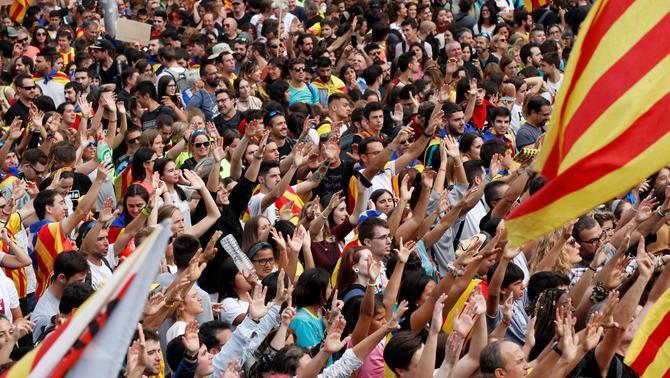 Mezzo milione di persone per una Catalogna indipendente