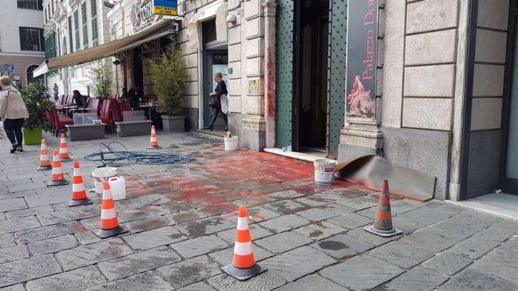 Blitz contro il consolato turco a Genova
