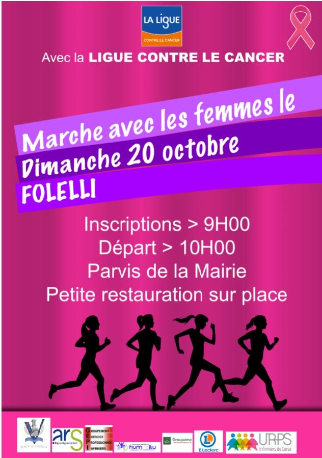 Domenica 20 ottobre Marcia Rosa contro il cancro al seno a Folelli