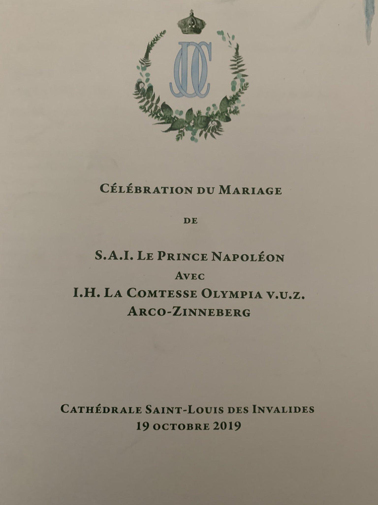 L'ultimo discendente di Napoleone ha sposato la discendente di Maria Luisa d'Austria