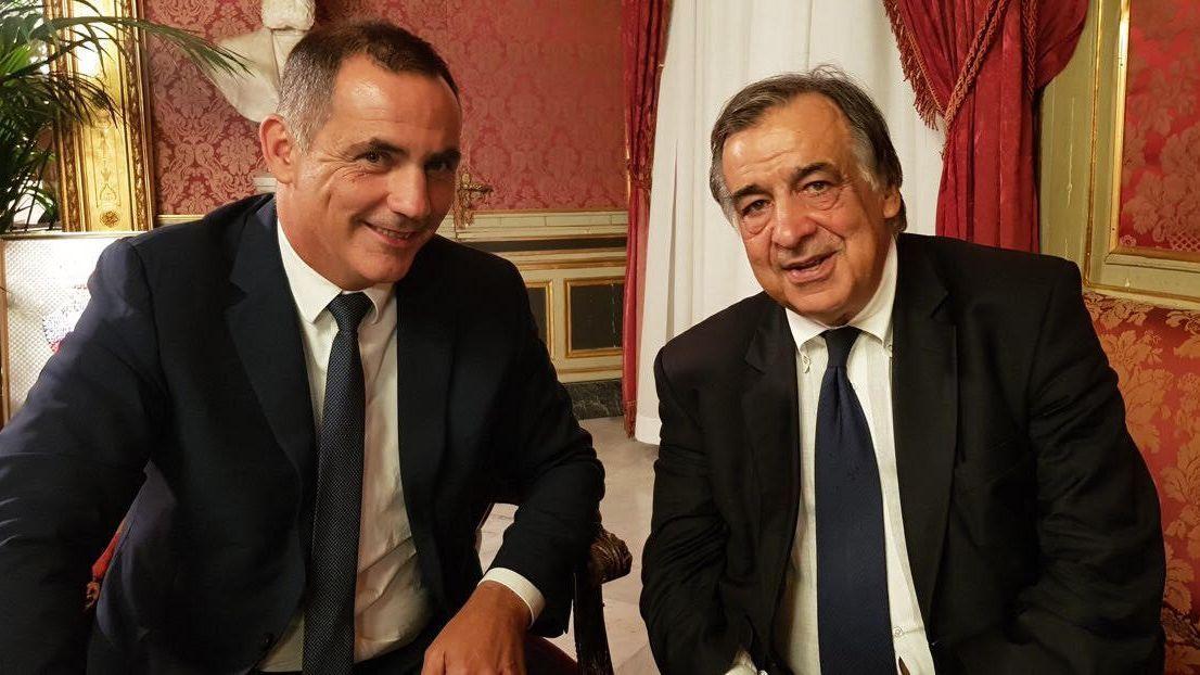Lotta antimafia: incontro tra Gilles Simeoni e il sindaco di Palermo Leoluca Orlando